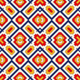 Seamless pattern with symmetric geometric ornament. Bright abstract background. Stock Photography