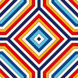 Seamless pattern with symmetric geometric ornament. Bright abstract background. Royalty Free Stock Photo