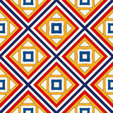 Seamless pattern with symmetric geometric ornament. Bright abstract background. Royalty Free Stock Image