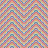 Seamless pattern with symmetric geometric ornament. Chevron abstract repeated wallpaper. Vector illustration Stock Images