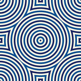 Seamless pattern with symmetric geometric ornament. Kaleidoscope blue white abstract background. Royalty Free Stock Images