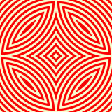 Seamless pattern with symmetric geometric ornament. Kaleidoscope red white abstract background. Stock Photo