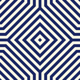 Seamless pattern with symmetric geometric ornament. Navy color abstract background. Stock Photo