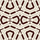 Seamless pattern with symmetric geometric ornament. Striped abstract background. Ethnic and tribal motifs. Repeated rhombuses wallpaper. Vector illustration Vector Illustration