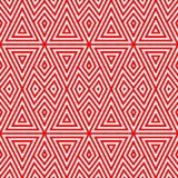 Seamless pattern with symmetric geometric ornament. Striped abstract background. Triangles and rhombuses wallpaper. vector illustration