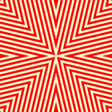 Seamless pattern with symmetric geometric ornament. Striped red white abstract background. Vector illustration Royalty Free Stock Photos