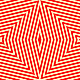 Seamless pattern with symmetric geometric ornament. Striped red white abstract background. Vector illustration Royalty Free Stock Photo