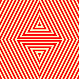 Seamless pattern with symmetric geometric ornament. Striped red white abstract background. Vector illustration Stock Photo