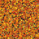 Seamless Pattern of Symmetric Triangles of Autumn Colors. Geometric Continuous Background for Universal Application. Triangular Grid Royalty Free Stock Photo