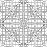 Seamless  pattern. Symmetrical geometric black and white background with rhombus. Decorative repeating ornament Royalty Free Stock Photos