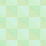 Seamless  pattern. Symmetrical geometric green background with triangles. Decorative repeating ornament Stock Photo