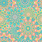 Seamless pattern with symmetrical mandalas. Ethnic texture Stock Photos