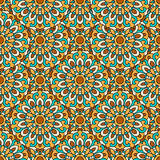 Seamless pattern with symmetrical mandalas. Ethnic texture  Royalty Free Stock Photography