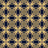Seamless pattern of symmetrical reflected arc lines Royalty Free Stock Photos