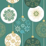 Seamless pattern with t christmas christal balls Stock Photo