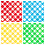 Seamless pattern - table cloth. Collection of four seamless patterns with traditional table cloth design Stock Photography