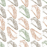 Seamless pattern taco scetch Stock Image