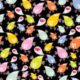 Seamless pattern with talking birds. Stock Photography