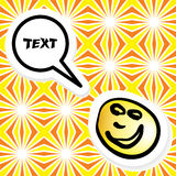 Seamless pattern with a talking smiley Stock Photo