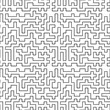 Seamless pattern. Tangled maze. Abstract background. Royalty Free Stock Image