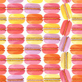 Seamless pattern with tasty donuts Royalty Free Stock Photos