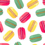 Seamless pattern with tasty macaroon Royalty Free Stock Photo
