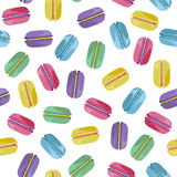 Seamless pattern with tasty macaroons Royalty Free Stock Image