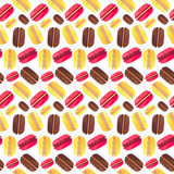Seamless pattern with tasty macaroons Stock Photos