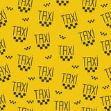 Seamless pattern of taxi sign. Royalty Free Stock Image