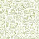 Seamless pattern tea ceremony Royalty Free Stock Image