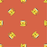 Seamless pattern with tea cup Stock Photos