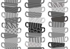 Seamless pattern with tea cups. Seamless pattern with tea or coffee cups Royalty Free Stock Photo