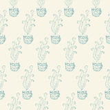 Seamless pattern with tea cups Stock Photos