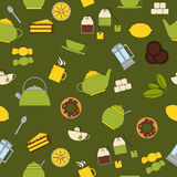 Seamless pattern tea Stock Photography