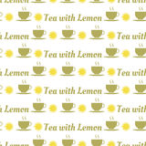 Seamless pattern with tea and lemons Royalty Free Stock Photos