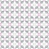Seamless pattern with tea set Stock Photos