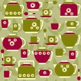 Seamless pattern on a tea theme Royalty Free Stock Photo