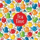 Seamless pattern tea time Stock Photos