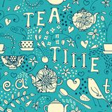 Seamless pattern - Tea Time Stock Image