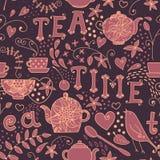 Seamless pattern - Tea Time Royalty Free Stock Photos