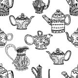 Seamless pattern of Teapots Royalty Free Stock Images