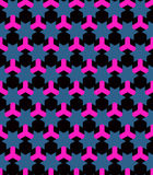 Seamless pattern in the technological style. Clear geometric shapes. Orderly background. Stock Photos
