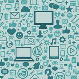 Seamless pattern with technology icons Royalty Free Stock Photo