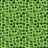 Seamless pattern with technology icons Stock Image