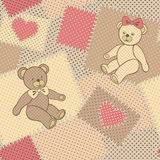 Seamless pattern with Teddy bear Royalty Free Stock Photos