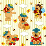 Seamless pattern with teddy bear Royalty Free Stock Image