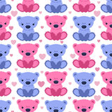 Seamless pattern with teddy bears Royalty Free Stock Image