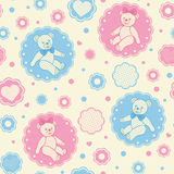 Seamless pattern with teddy bears Stock Photography