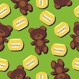 Seamless pattern with teddy bears Royalty Free Stock Photography
