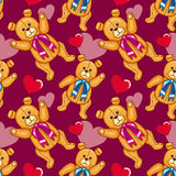 Seamless pattern with Teddy Bears Stock Photo